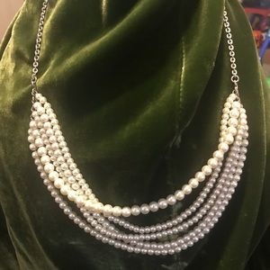 J.Crew 4 strand pearl(faux) necklace